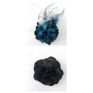 2 Anthropologie flower hair clip and pins